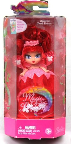 *Barbie Fairytopia Magic of the Rainbow Rainbow Tooth Fairy 2006 Red