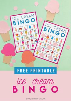 Ice Cream Bingo Free Printable Ice Cream Bingo Free Printable Print from home Ice Cream Theme Parties Bingo, Summer Ice Cream, Ice Cream Day, Theme Parties, Birthday Party Themes, 9th Birthday, Ice Cream Games, Sundae Party, School Age Activities