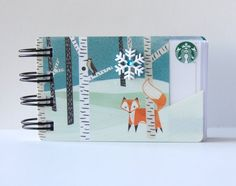 STARBUCKS HOLIDAY or CHRISTMAS Gift Card Spiral by CampfireDesigns
