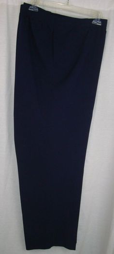 ALIA Women's Pants Plus Size 24W Navy Two Pockets 100% Polyester #Alia #CasualPants #YourChoice