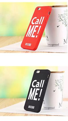 "Get this red or black cool ""call me"" phone case. Which do you like most?"