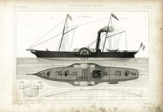Marine Engineering, Engineering Tools, Locomotive, Sailboat Plans, Free Boat Plans, Steam Boats, Nautical Wall Art, Beyond The Sea, Paddle Boat
