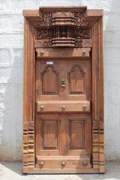 Image result for PRACHIN ART GALLERY Wooden Door Design, Main Door Design, Wooden Door Hangers, Wooden Doors, Asian Furniture, Bedroom Furniture, Pooja Room Door Design, Indian Home Interior, Traditional Doors