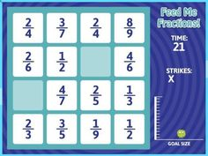 This online fractions game helps students look for and understand like denominators. Great for the 1:1 classroom. Check out all 10 adding and subtracting fractions activity ideas for fractions with like denominators. #onlinemathhelp #onlinemathcourses #learnmathonline