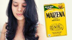 Hidratação caseira MILAGROSA com MAIZENA (ótima para cabelos secos)