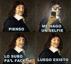 Me hago un selfie, luego existo #compartirvideos #videowatsapp #imagenesdivertidas