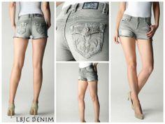 http://lagunabeachjc.com/proddetail.php?prod=W-2-F-CS-AB Heat up summer with LBJC Denim Shorts - Crystal Cove Cut-off Shorts With Swarovski AB Crystals #lbjcdenim