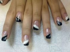 french nails step by step French Tip Nail Designs, French Tip Nails, Acrylic Nail Designs, French Tips, Colored Nail Tips French, Fancy Nails, Trendy Nails, Nail Designs Pictures, Nagellack Trends