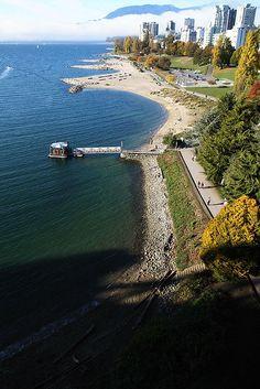 English Bay from Burrard Bridge, Vancouver, BC, Canada