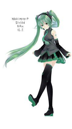 Nashimoto-P Styled Miku v1.5 -DOWNLOAD AVAILABLE!- by tsukare-ta