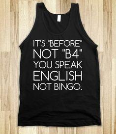 English Not Bingo.