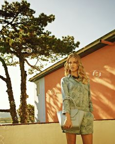 Palm print denim shirt - Baby Blue | Tops & Tees | Ted Baker