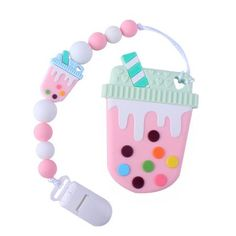 Boba Drink, Tea Design, Baby Teethers, Bubble Tea, Baby Care, Bubbles, Age Regression, Space, Pacifiers