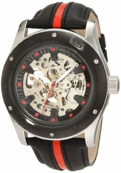 Akribos XXIV Men's AKR476RD Round Retro Skeleton Automatic Strap Watch Akribos XXIV. $129.00. This bold and beautiful skeleton automatic watch from Akribos XXIV will help you stay right in style.. A skeleton dial gives you a clear view of the well-crafted automatic movement and this watch is encased in masculine solid case and retro calfskin leather strap.. Water-resistant to 165 feet (50 M). Watch arrives in a Akribos XXIV gift box complete with a 2 year limited warran...