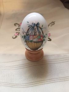 Noritake Bone China Easter Egg 1995 with Stand | eBay