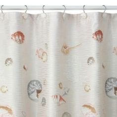 Bacova Captiva Shell Fabric Shower Curtain
