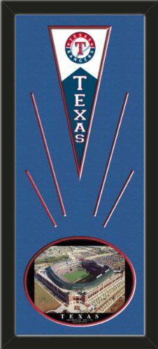 Texas Rangers Wool Felt Mini Pennant & Rangers Ballpark , First Opening Day Photo - Framed With Team Color Double Matting In A Quality Black Frame-Awesome & Beautiful-Must For A Championship Team Fan! Most NFL, MLB, NBA, Teams Available-Plz Mention In Gift Message If Need A different Team Art and More, Davenport, IA http://www.amazon.com/dp/B00I1C4CM6/ref=cm_sw_r_pi_dp_FvtEub090SNQM