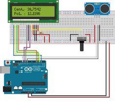 Medidor de distância com o sensor ultrassônico HC-SR04