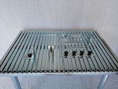 The SANWZB is an affordable, precision, modular welding table that can help you increase your productivity, and work quality , and reduce project lead times. Welding Table Diy, Welding Cart, Welding Rods, Industrial Furniture, Vintage Furniture, Assembly Table, Welding And Fabrication, Metal Working Tools, Table Sizes