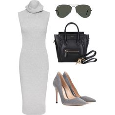 ootd 54 : Alisya by alisya97 on Polyvore featuring polyvore fashion style Whistles Gianvito Rossi Ray-Ban CÉLINE