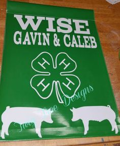 Another 4H flag - these are super popular this year - perfect to hang above stalls