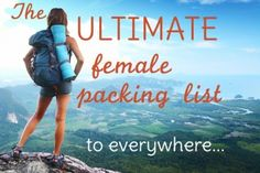 Ultimate female packing list. As well as TONS of other lists covering EVERYTHING for female travellers. Go. Read it. Do it now