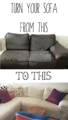 How To Make A Sectional Slipcover Without Sewing Diy Diy Sofa
