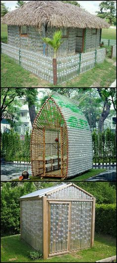Learn how to build your own recycled plastic bottle greenhouse . Learn How To Build Your Own Recycled Plastic Bottle Greenhouse Many of You Have … build Plastic Bottle Greenhouse, Plastic Bottle Crafts, Recycle Plastic Bottles, Plastic Bottle House, How To Recycle Plastic, Plastic Summer House, Plastic Recycling, Greenhouse Plans, Greenhouse Film