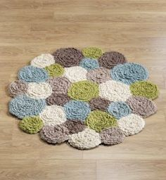 crochet flower rug LOVE