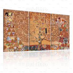 Quadro L'albero della vita  - Gustav Klimt - The Three Of Life on canvas
