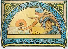 Vintage Blog: Alfons Mucha : Waterlily 1898