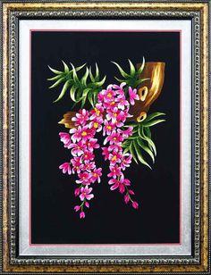 hoa lan One Stroke Painting, Embroidery, Dress, Decor, Vestidos, Dresses, Decorating, Drawn Thread, Dressers
