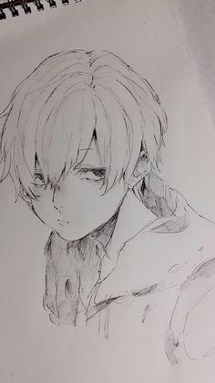 Anime Art, Sketches, Anime Drawings Boy, Anime Drawings Sketches, Art Sketchbook, Cute Art, Art Sketches, Anime Drawings, Anime Character Drawing