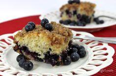 Blueberry Crumble Cake with Honey Lemon Glaze > Practically Organic Girl