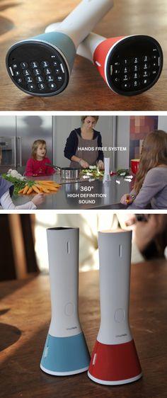 Por fin un teléfono manos libres para el hogar, ideal para hablar con tu madre mientras estas haciendo otras cosas.