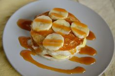 You can prepare IHOP Caramel Pancakes at home, these feature the famous pancakes, banana pudding, caramel and fresh bananas.