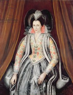 Robert Peake the Elder, said to be Susan Lady Grey. If it is she, she's the daughter of Charles, 10th Baron Grey de Ruthyn, 7th Earl of Kent;