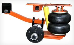 Cantilever  airbagged suspension