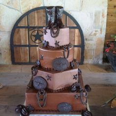 Texas western cake. I like the boots on top.