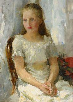 Sitting Girl - Laurits Tuxen