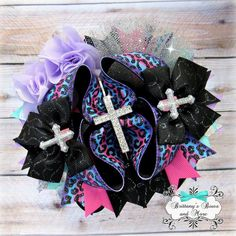 OTT Hair Bow ~ Faith Girl - Over the Top Hairbow ~ Cross Inspired Hair Bow ~ Stacked Boutique Bow by BrittanysBowsNMore2 on Etsy https://www.etsy.com/listing/270892496/ott-hair-bow-faith-girl-over-the-top