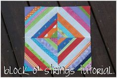 block o' strings tutorial.    I think I already pinned this.  I AM going to do this one.  Could not be simpler.