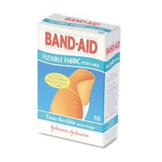 BAND-AID® - Flexible Fabric Extra Large Adhesive Bandages, 1-1/4 x 4, 10/Box - Sold As 1 Box - Provides extra flexibility - stretchable and comfortable fabric moves with you to fit better. by BAND-AID Products. $5.90. BAND-AID® - Flexible Fabric Extra Large Adhesive Bandages, 1-1/4 x 4, 10/BoxProvides extra flexibility - stretchable and comfortable fabric moves with you to fit better. Extra-large bandages are useful for knees and elbows. Packaged for individual use a...