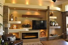 Built In Entertainment Center Design Ideas built in entertainment centers 12 built in Media Wall 4 Contemporary Family Room Phoenix Thunderbird Custom Design Built In Drywall Entertainment Center