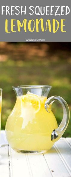 This fresh squeezed Lemonade recipe will blow your mind, you'll never go back to store bought! | from noshtastic.com | vegan, vegetarian, gluten free, dairy free