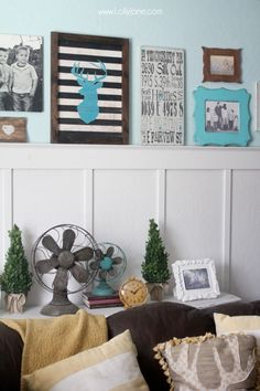 Decorating with family pictures gallery wall!