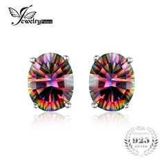 7 x 5 mm Oval Cut 1.5 ct Solid 925 Sterling Silver Fire Rainbow Mystic Topaz Earrings //  Price: $10.78 & FREE Shipping //     7 x 5 mm Oval Cut 1.5 ct Solid 925 Sterling Silver Fire Rainbow Mystic Topaz Earrings     My Monster Deal  #Hoodies