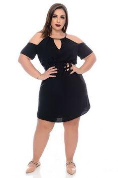 Vestido Listrado Plus Size Anay - daluzplussize Vestidos Plus Size, Plus Size Dresses, Cropped Plus Size, Fall Dresses, Dresses For Work, Wedding Dresses, Curvy Girl Outfits, Perfect Little Black Dress, Moda Plus Size