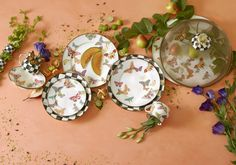 Introducing our newest enamelware pattern...Butterfly Garden. Each butterfly is artfully arranged around the plates to allow your own culinary creations to take center stage.
