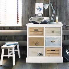 Commode cabinet blanc OUESSANT  | Maisons du Monde